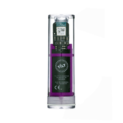Tilt Hydrometer & Thermometer | Purple