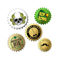 Lawn Mower Beer | Bottle Caps | Various Designs | 80 PCS