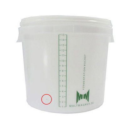 Fermentation Bucket | 16 L With Hole For Faucet